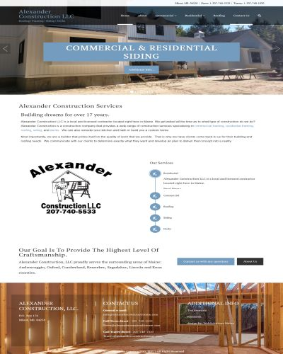 Alexander Construction Maine